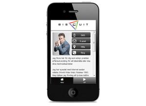 mobilanpassad sida för biscuit.se