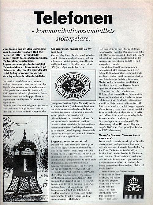 Sidan 1 Kommunikationssamhällets stöttepelare.